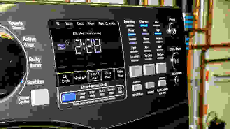 GE GFW450SPMDG Controls