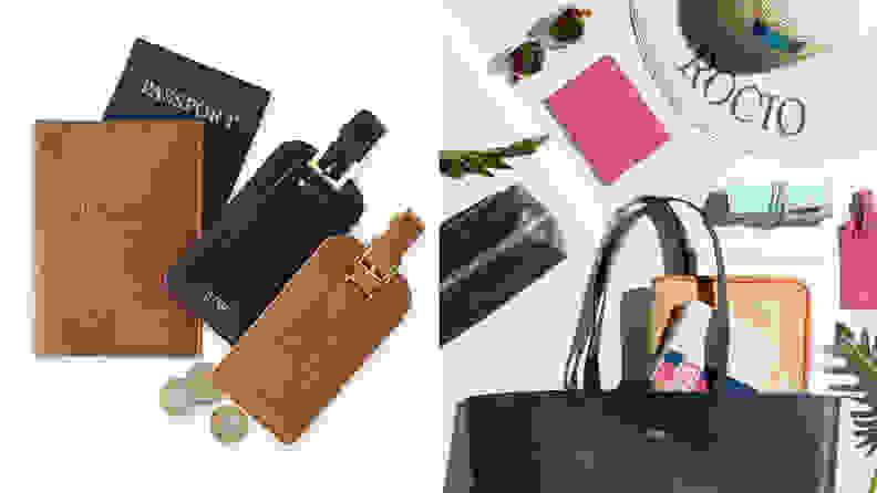 Monogrammed travel items
