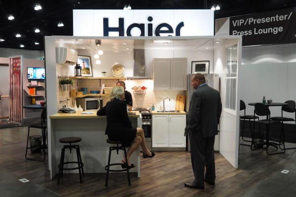 At Dwell on Design 2015 in LA, Haier showed off its full range of apartment-sized appliances.