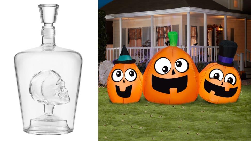 Skull decanter / pumpkin decoration