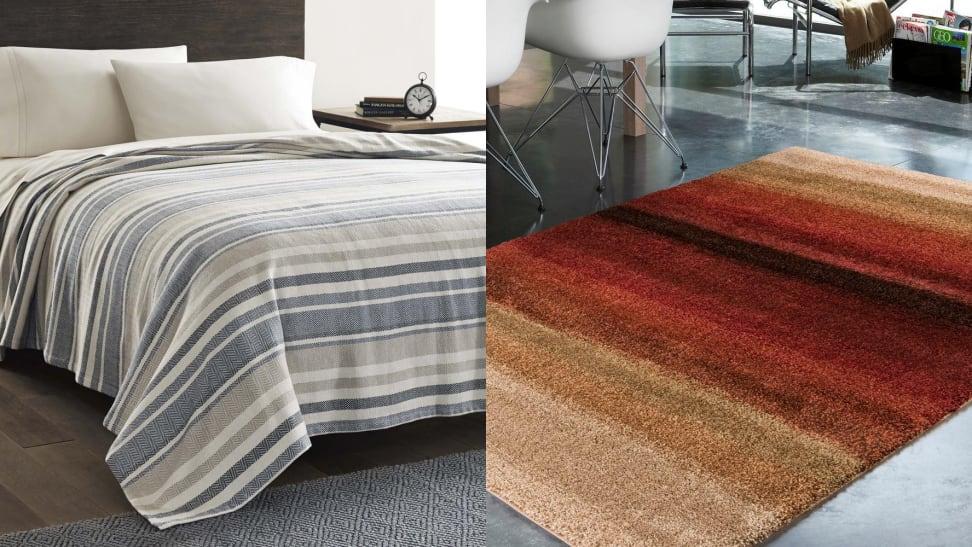 The Eddit Bauer Herringbone Cotton blanket