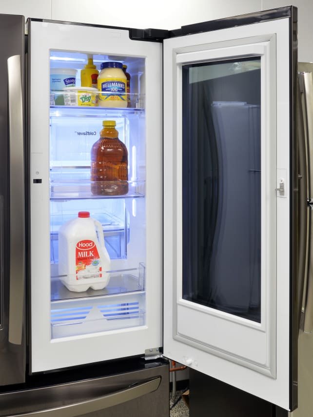 see through refrigerator. LG InstaView Door-in-Door Storage See Through Refrigerator I