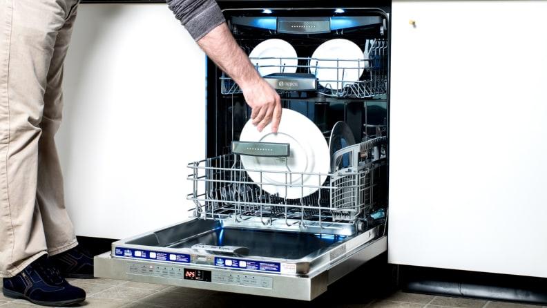 Emptying-dishwasher