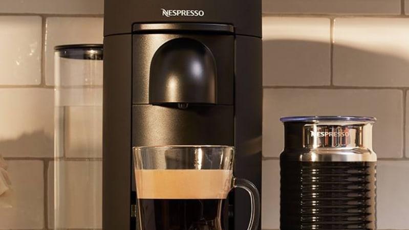 The Nespresso VertuoPlus coffee machine.
