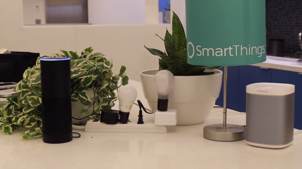 The Amazon Echo with SmartThings-compatible products