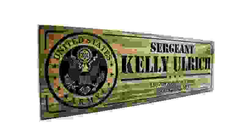 Personalized Wooden Military Sign