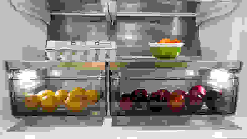 Frigidaire Pro PRMC2285AF Counter-depth French-door Refrigerator Review — Crispers