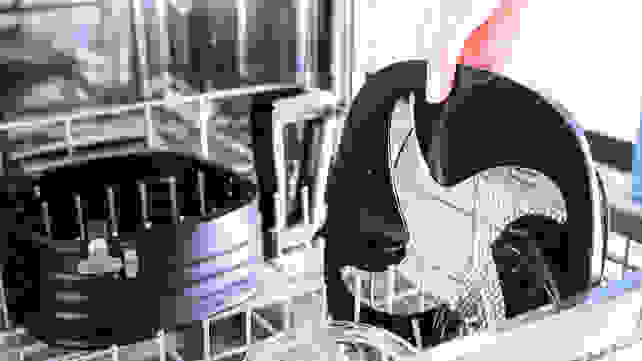 Placing air fryer parts in dishwasher