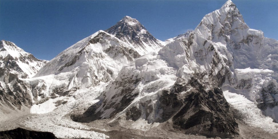 Mt. Everest and its glacier