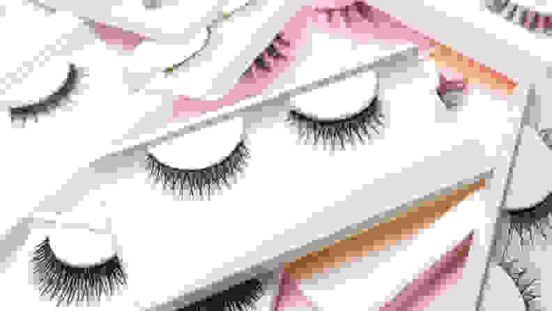 Variety of fake eyelashes