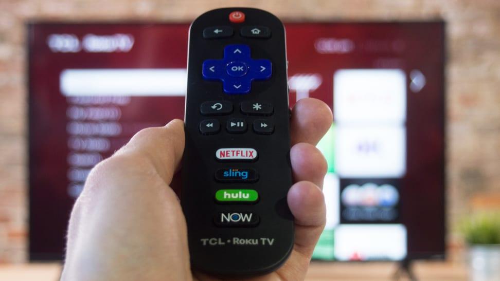 A TCL Roku TV remote control