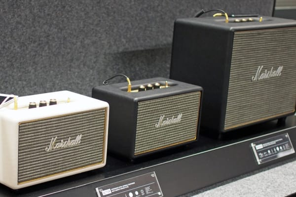 Marshall's new speakers, the miniature Acton and larger Woburn models