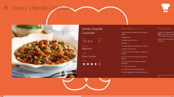 Yoga Chef allows you to navigate recipes with voice commands.
