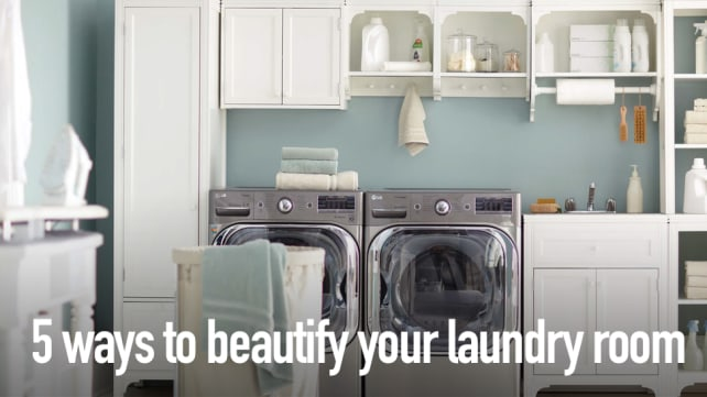 5 ways to beautify your laundry room