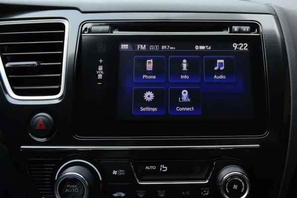 The home screen on the 2014 Honda Civic.