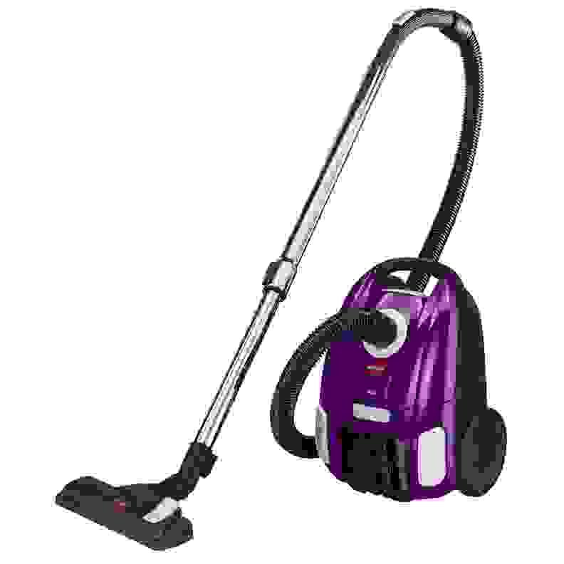 A purple vacuum cleaner