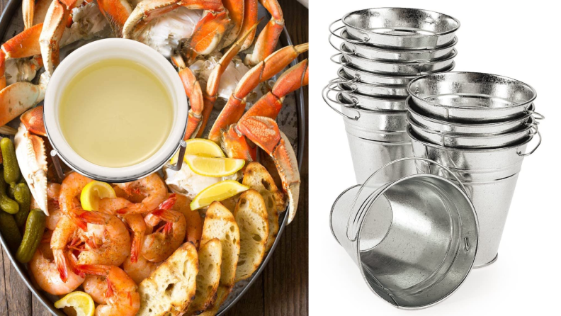 Butter warmer and metal buckets