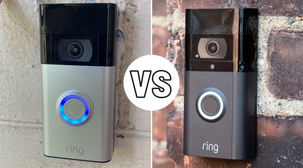 Ring Video Doorbell (second-gen) (pictured left) and the Ring Video Doorbell 3 Plus (pictured right)