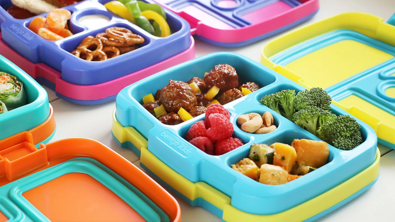 Bentgo lunchbox with meal inside