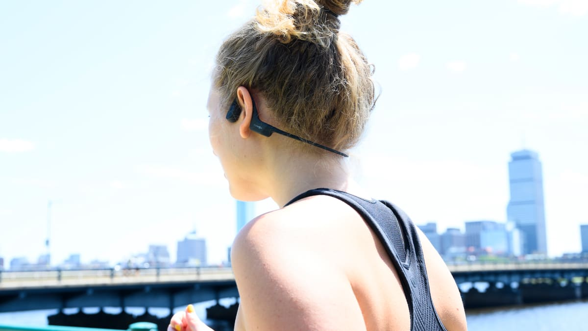 These are the only headphones that actually stay in my ears while running