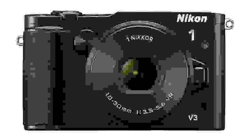 A front view of the Nikon V3.