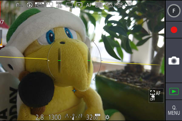 The Panasonic CM1 has the most comprehensive camera app, with a slick touch-based UI.