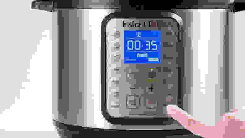 Instant Pot close-up on control panel