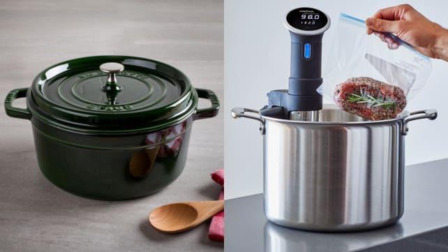 Sous vide - dutch oven and pot