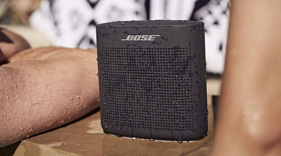 Bose speaker dripping with water