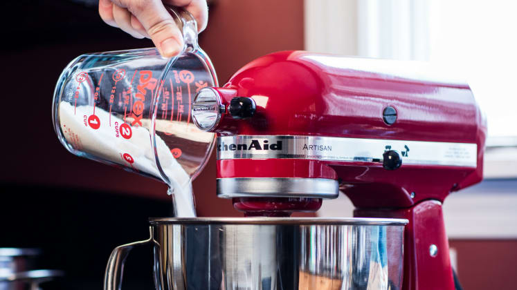 The KitchenAid Artisan 5-Quart Stand Mixer is at its lowest price on ...
