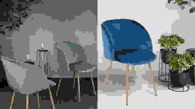 EGGREE Velvet Armchair