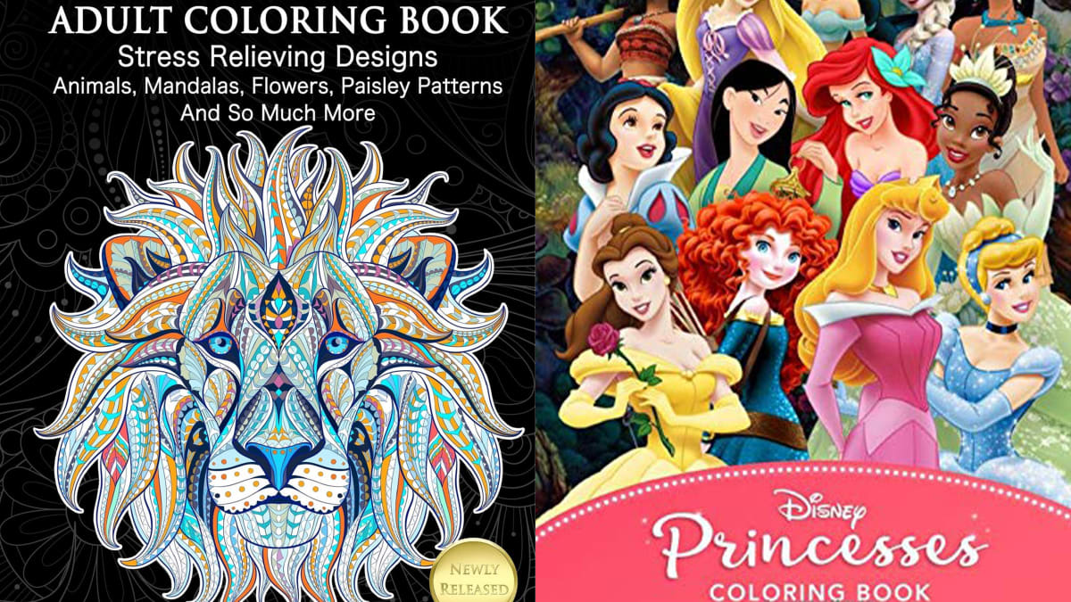 - 10 Best-selling Kids' And Adult Coloring Books For As Little As $4