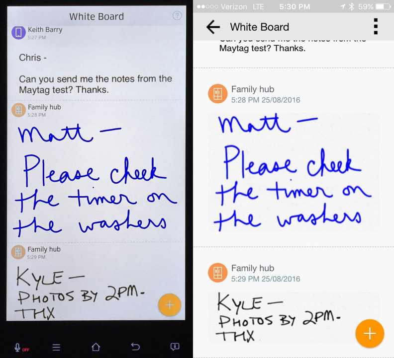 Samsung Family Hub Whiteboard
