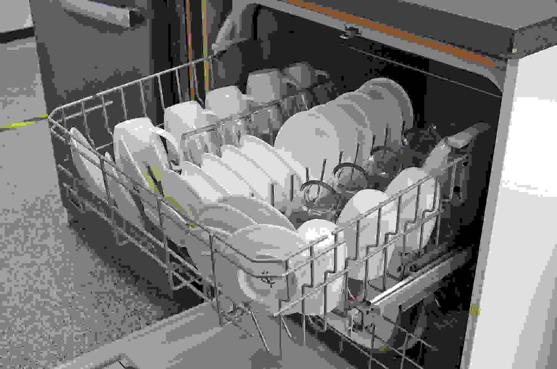 Kenmore 13042 upper rack loaded