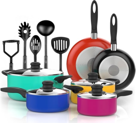 Product Image - Vremi Nonstick 15-Piece Cookware Set