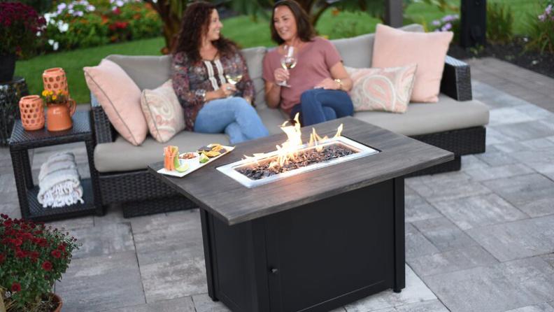 Best luxury gifts: Uniflame Steel Propane Outdoor Fire Pit.