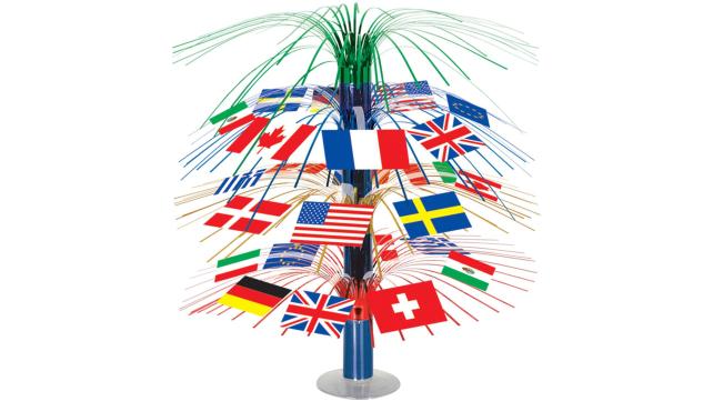 Beistle International Flag Centerpiece