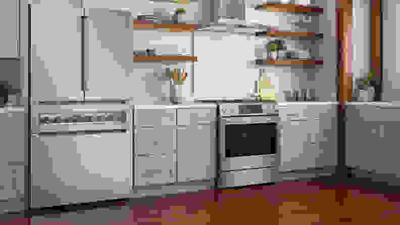 A shot of the Bosch 800 series fridge in a kitchen