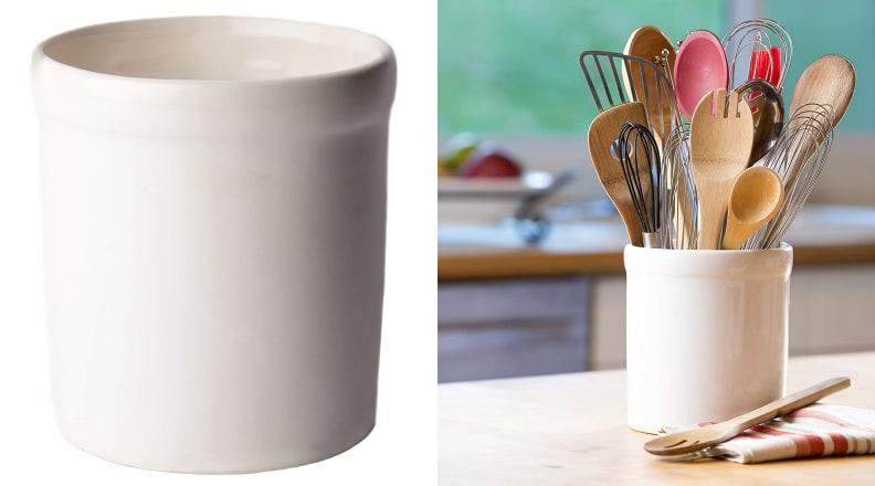 American Mug Pottery Ceramic Utensil Crock Utensil Holder