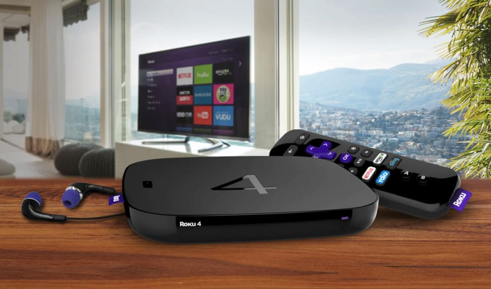 The Roku 4 and its remote