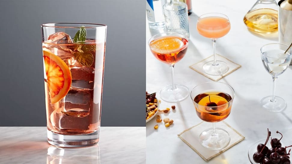 The only cocktail glasses you'll ever need, according to mixologists