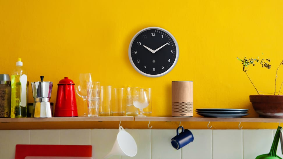 The Echo Wall Clock looks classic but acts futuristic.