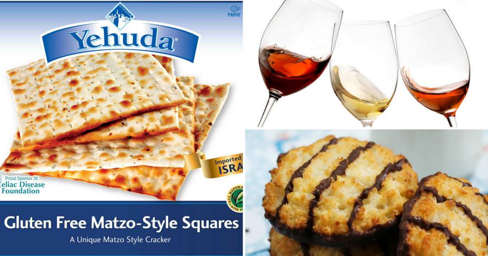 Gluten-free matzo, wine, and macaroons, oh my!