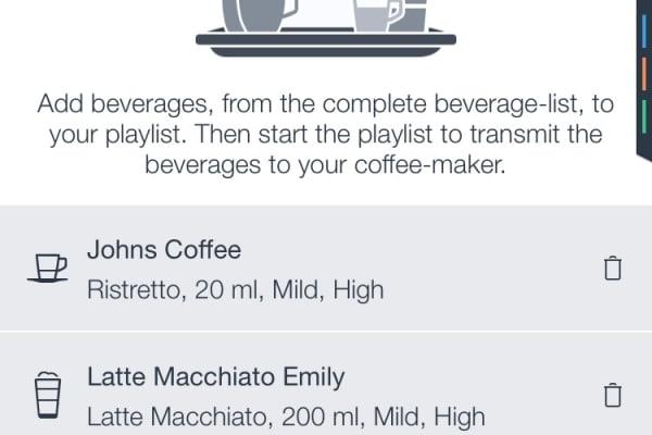 Bosch HomeConnect Coffee Playlist