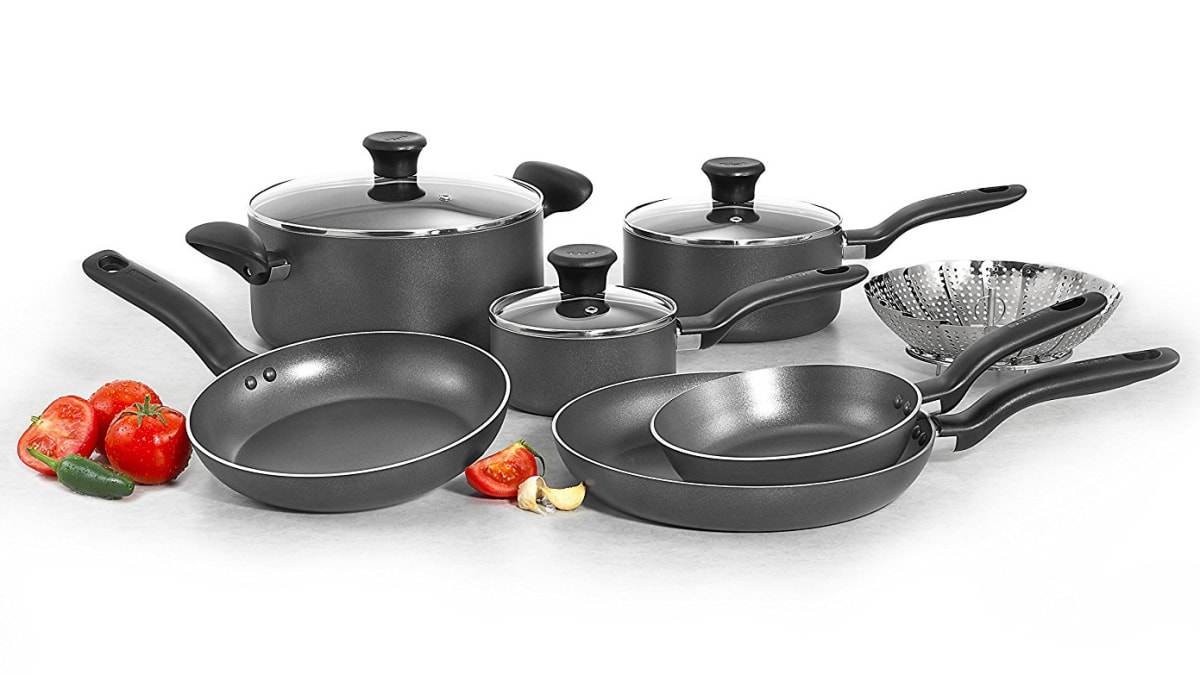 Replace Your Old Scratched Up Pots And Pans This T Fal Nonstick Set Is Only 40 Right Now Reviewed Kitchen Cooking