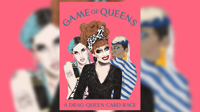 The packaging of Game of Queens game.