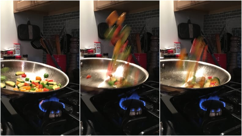 Tossing Vegetables