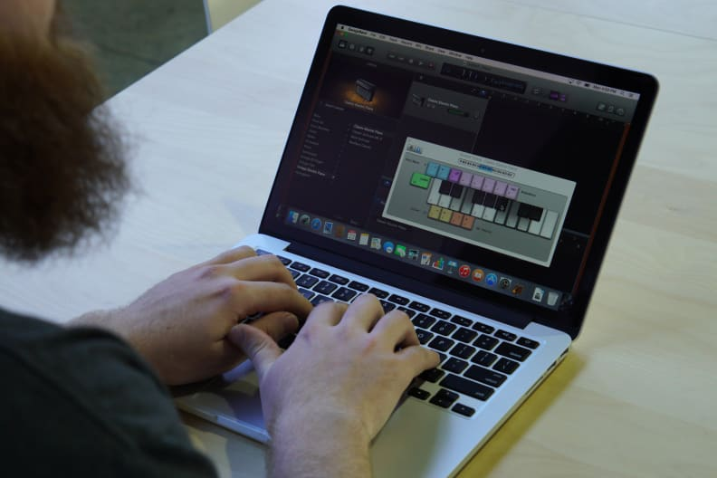 The MacBook Pro is perfectly suited for creative content creation, like using GarageBand to make your own music.