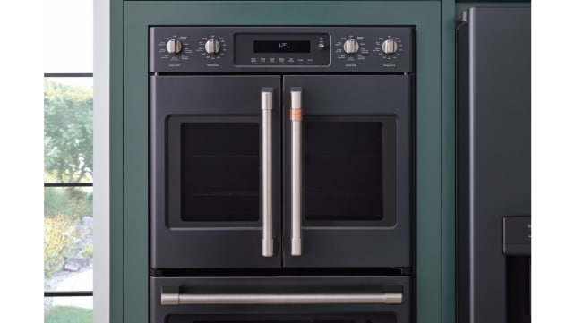 GE-Cafe-French-door-wall-oven-matte-black