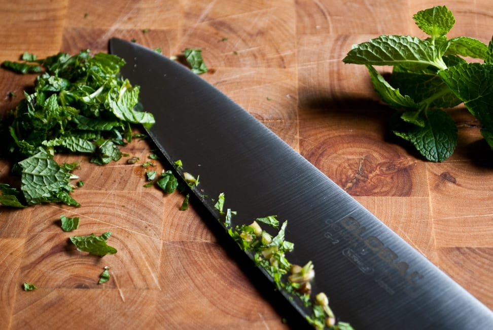 A typical chef's knife